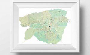 نقشه تفکیکی محدوده شعب بیمه تامین اجتماعی تهران