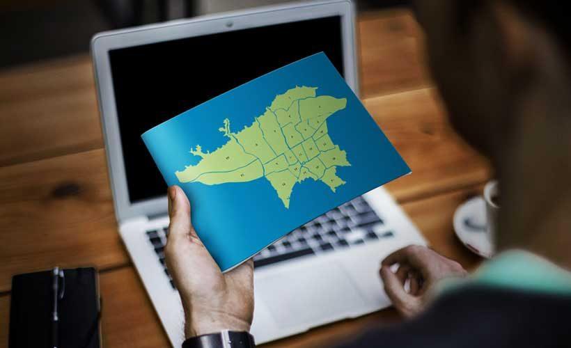 نقشه تفکیکی مناطق شهرداری تهران