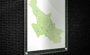 نقشه مناطق شیراز