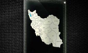 نقشه تفکیکی استانهای ایران - قالب وکتور