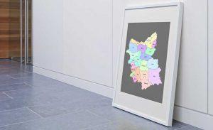 نقشه تفکیکی شهرهای استان آذربایجان شرقی