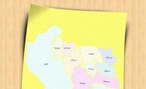 نقشه تفکیکی شهرهای استان خراسان جنوبی