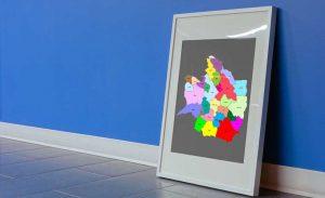 نقشه تفکیکی شهرهای استان خراسان رضوی