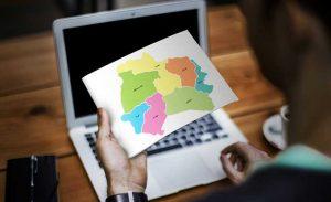 نقشه تفکیکی شهرهای استان خراسان شمالی