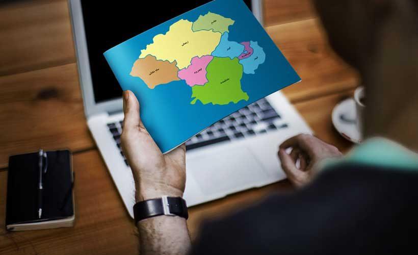 نقشه تفکیکی شهرهای استان زنجان -