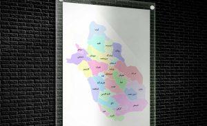 نقشه تفکیکی شهرهای استان فارس - قالب وکتور