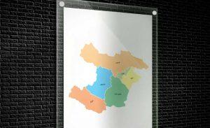 نقشه تفکیکی شهرهای استان قزوین