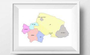 نقشه تفکیکی شهرهای استان قم