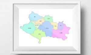 نقشه استان لرستان