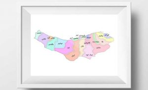 نقشه تفکیکی شهرهای استان مازندران