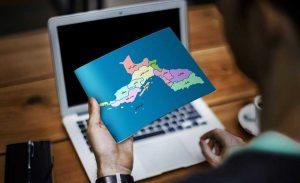 نقشه تفکیکی شهرهای استان هرمزگان