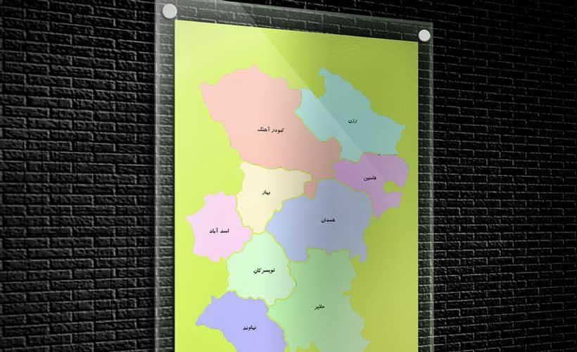 نقشه تفکیکی شهرهای استان همدان