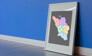 نقشه تفکیکی شهرهای استان چهارمحال و بختیاری