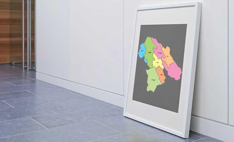 نقشه تفکیکی شهرهای استان کهگیلویه و بویراحمد