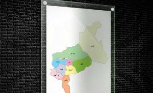 نقشه تفکیکی شهرهای استان یزد