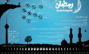 اینفوگرافیک رمضان 1438