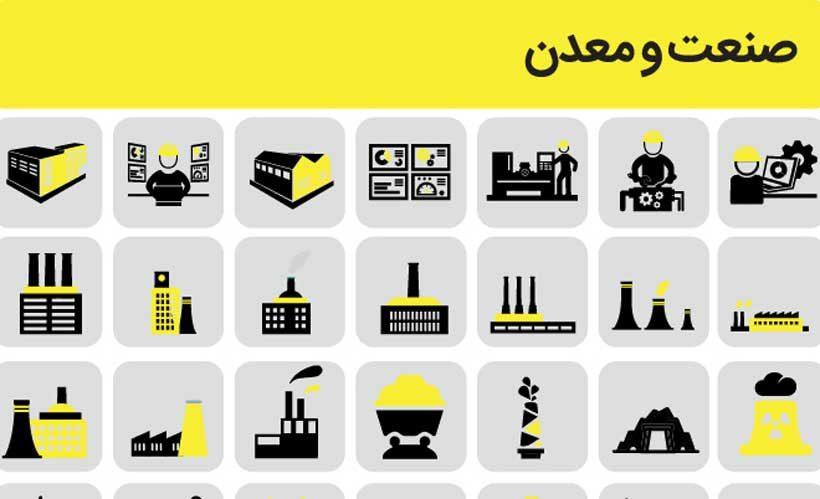 مجموعه پیکتوگرامهای روز صنعت و معدن