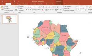 نقشه لایه باز قاره آفریقا